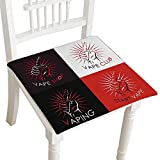 "HuaWuhome Chair Pads Vaping Logo Badge Electronic Cigarettes Store Cushion Perfect Indoor/Outdoor 18""x18""x2pcs"