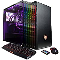 CYBERPOWERPC Gamer Supreme SLC9980 Gaming PC (Intel i7-7820X 3.6GHz, NVIDIA GeForce GTX 1080 8GB, 16GB RAM, 240GB SSD, 2TB HDD, WiFi, Liquid Cool & Win10) Blk