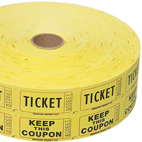 yellow double raffle ticket roll - 8