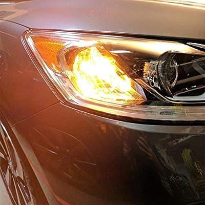 Alla Lighting Super Bright 3156 3157 LED Turn Signal Light Bulbs 2000 Lumens 3156 3457 4157 3157 LED Bulb 3020 30-SMD 3156 3157 LED Lights Bulbs Amber Yellow Blinker Lights Replacement for Cars Trucks: Automotive