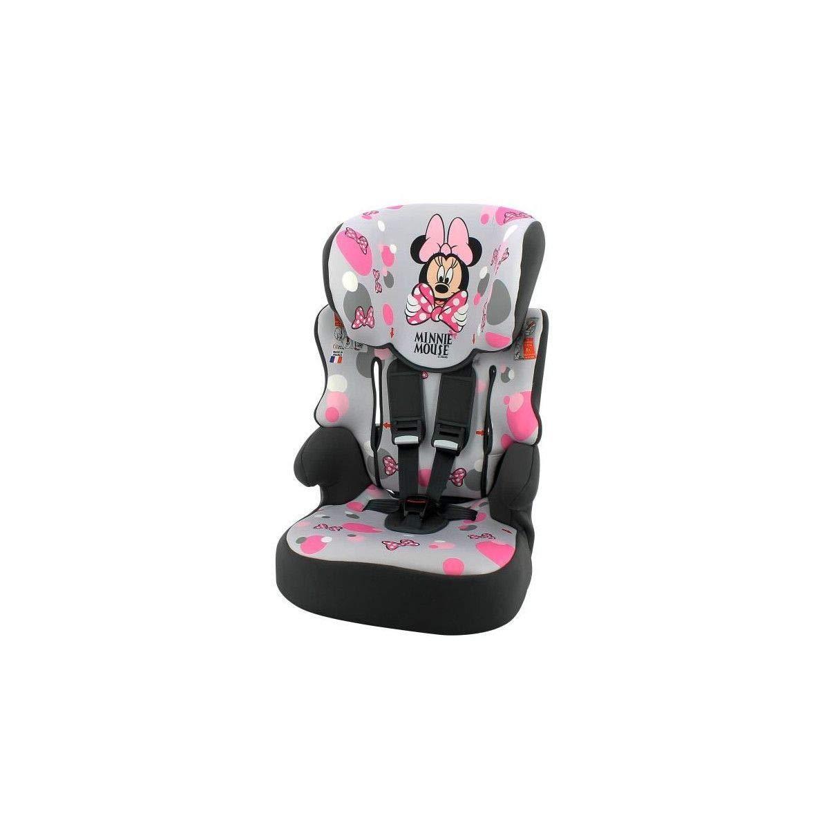 Minnie Siege Auto beline Groupe 1-2-3 Disney Framboise