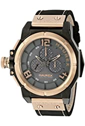 Haurex Italy Men's 6N510UNN Space Chrono Analog Display Quartz Black Watch