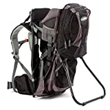 Premium Baby Backpack Carrier with Removable Backpack - 2 in 1 for Hiking with Kids – Carry your Child Ergonomically (Black/Grey)