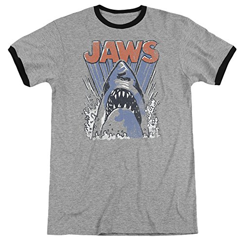 Jaws Herren T-Shirt Opaque schwarz schwarz
