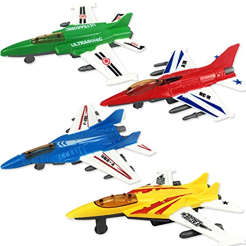 Ocamo Halloween Cute Interesting Pull Back Plane Toy Mini Aircraft Airplane Shape Toy for Kids Gift]()