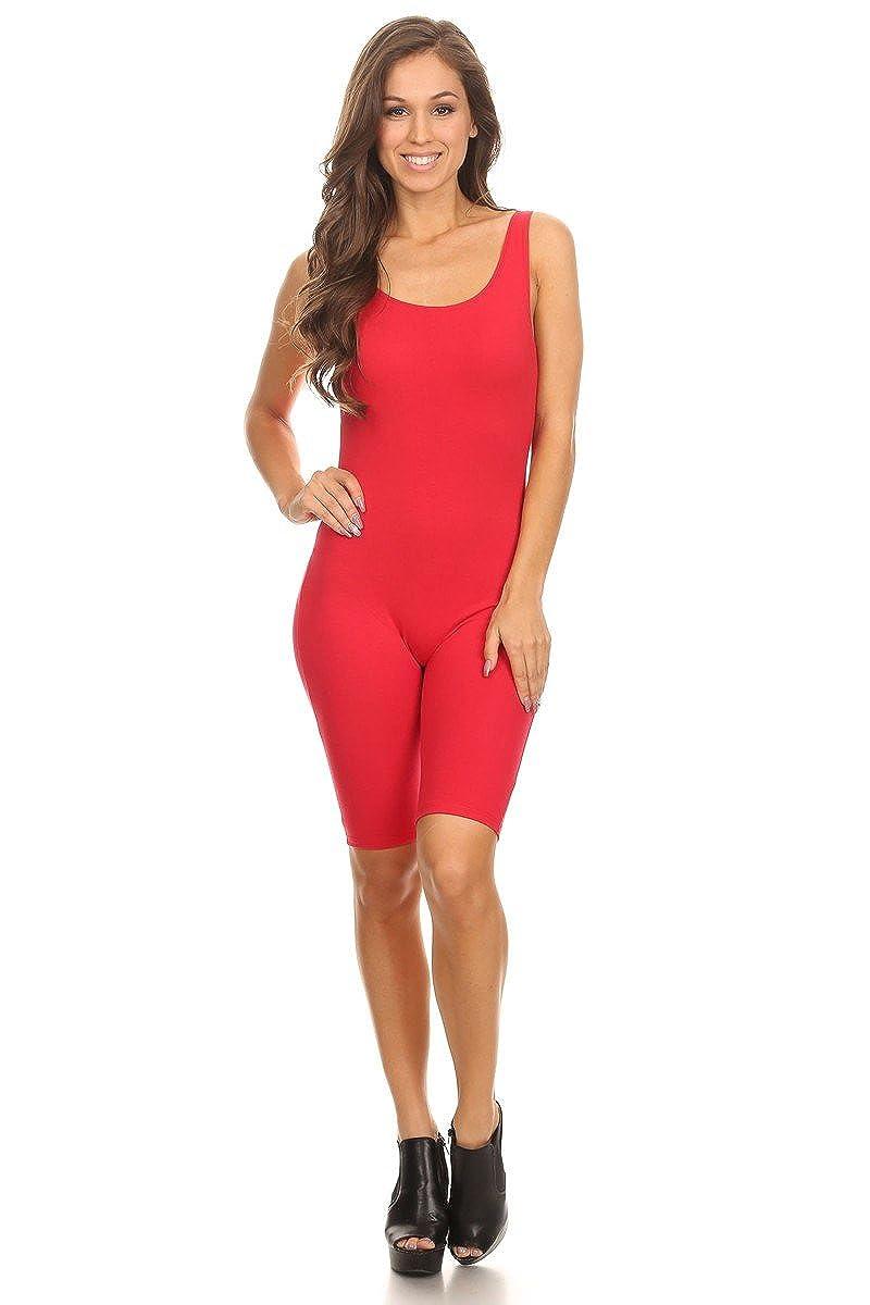 Stretch Red Cotton Bodysuit レディース ノースリーブ ストレッチコットン 膝丈 Stretch スキニー 無地 膝丈 スポーツアクティブ 全身タイツボディスーツ(& Plus) B076KCLCMX Red_Seller Medium, アイカカ:dc8e14a3 --- mail1.ferraridentalclinic.com.lb