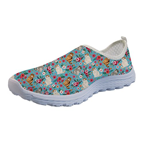 Coloranimal Summer Beach Water Flats Exotic Short Hair Flower Jogger Shoes US10 from Coloranimal