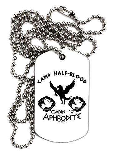 TooLoud Cabin 10 Aphrodite Camp Half Blood Adult Dog Tag Chain Necklace