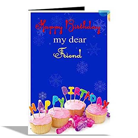 Happy Birthday My Dear Friend Greeting Card Amazonin Office Products