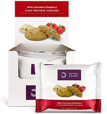 BULK POWDERS Protein Cookie, Kekse, Weiße Schokolade und Himbeere, 12 Stück