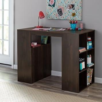 Mesa de trabajo y escritorio de 12 cubos de madera de castaño ...