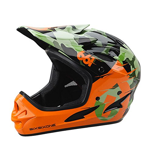 - SixSixOne 661 Comp Full Face Gravity MTB DH Helmet - (CSPC) - CAMO - Large (L) _7166-21-053