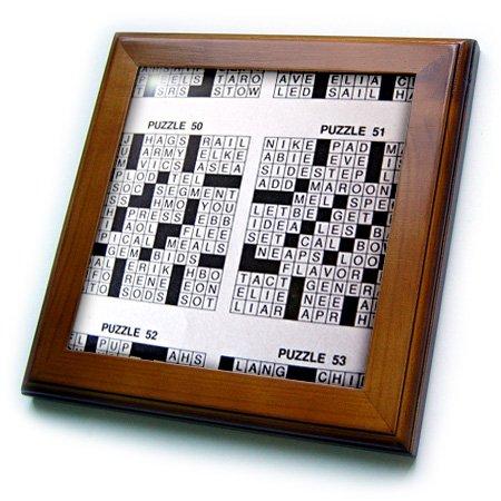 3dRose ft_18669_1 Never a Cross Word Framed Tile, 8 by 8-Inch (Cross Framed Tile)