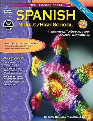 Spanish: Middle / High School (Skills for Success): Cynthia Downs ...