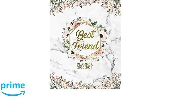Best Friend 2020-2024 Planner: Pretty 5 Year Monthly ...