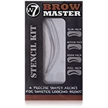 W7 Precise Shaped Arches Eyebrow Stencils (one set contain 4 size brow)