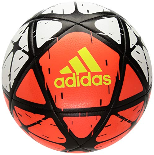 Soccer Adidas Ball Red (adidas Performance Glider Soccer Ball, White/Solar Red/Solar Yellow, Size 5)