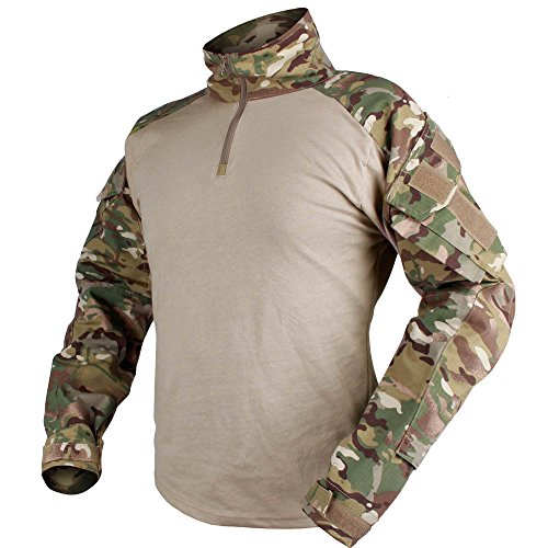 IDOGEAR Men G3 Combat Shirt with Elbow Pads Rapid Assault Long Sleeve Shirt Tactical Airsoft MultiCam Clothing Camouflage Military Paintball Gear (National Team Woven Jacket)