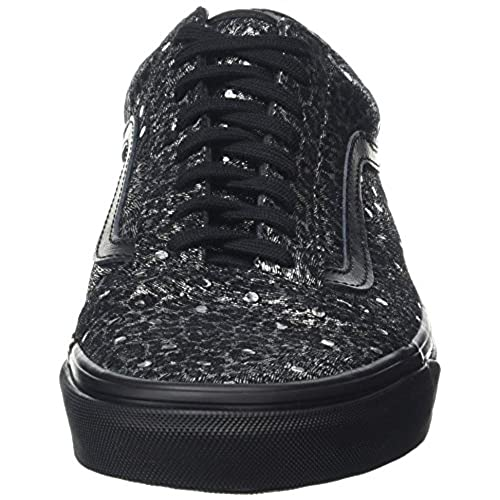 8d742a21a06b3e outlet Vans Old Skool Metallic Leopard Skate Shoes-Metallic Leopard Black -10-