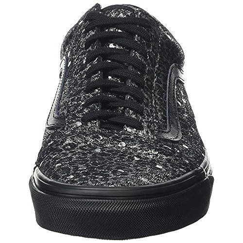 80756d6cac Vans Old Skool Metallic Leopard Skate Shoes-Metallic Leopard Black-10-Women