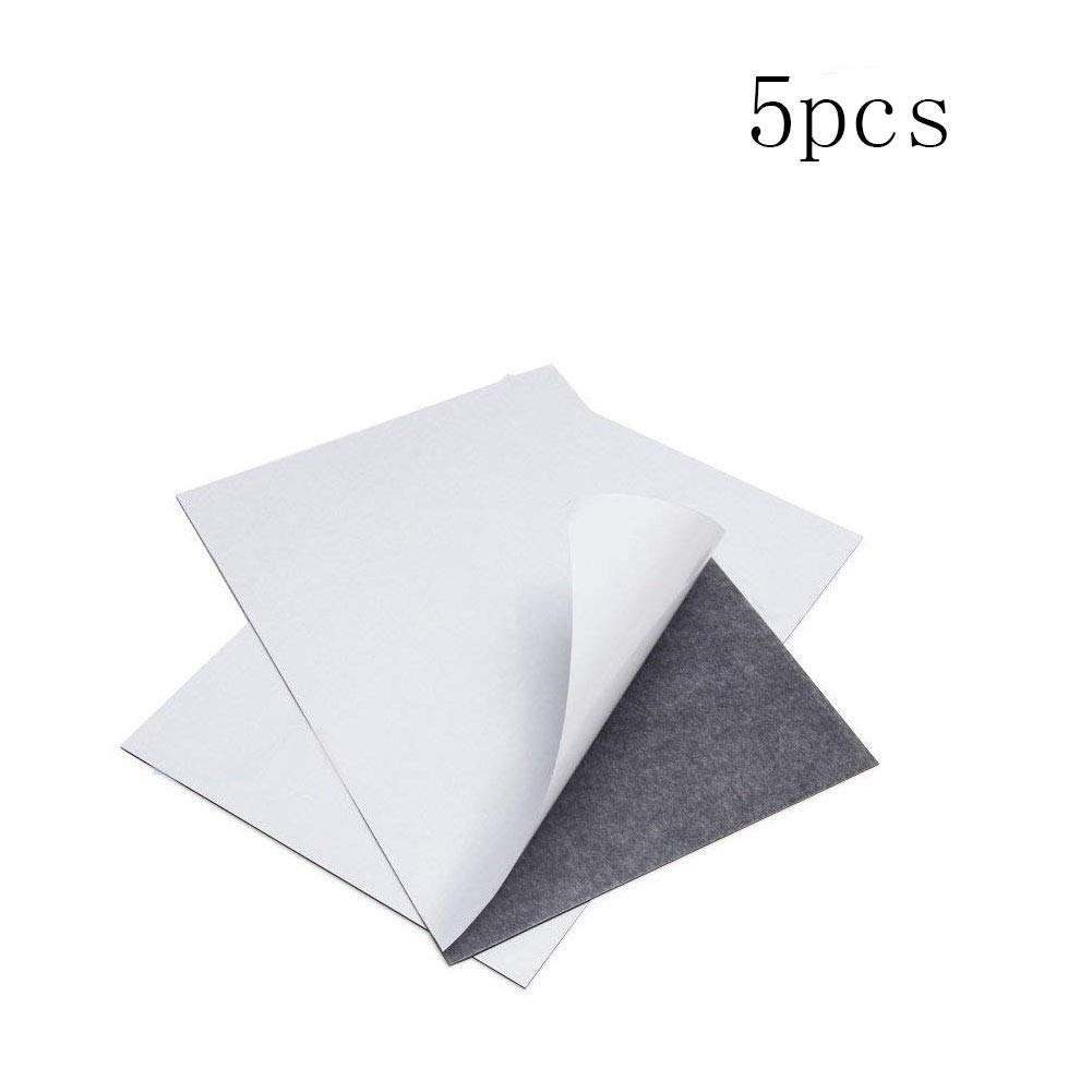 Eforlike 5 Pcs 5.91'' x 8.27'' x 0.03'' Soft Self Adhesive Flexible Magnetic Plate Sheet for School, Home, Office