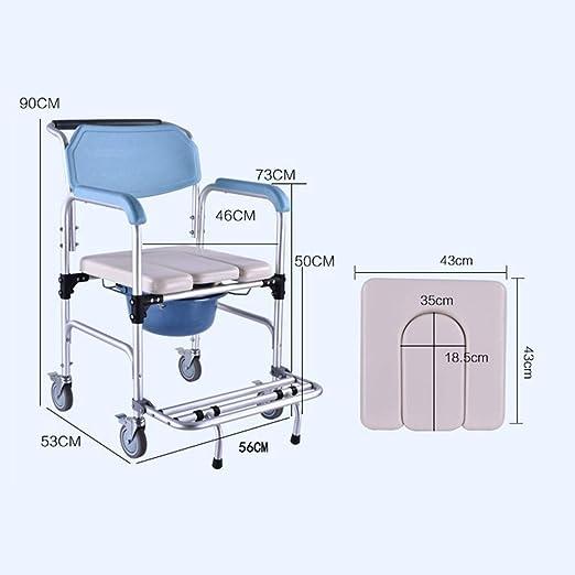 Pebegain Silla de baño de Aluminio para Uso médico, Taburete ...