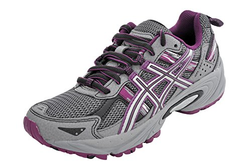 Removable Cushion Footbed - ASICS Women's Gel-Venture 5 Running Shoe (8.5 B(M) US, Frost Gray/Gray/Silver/Magenta)