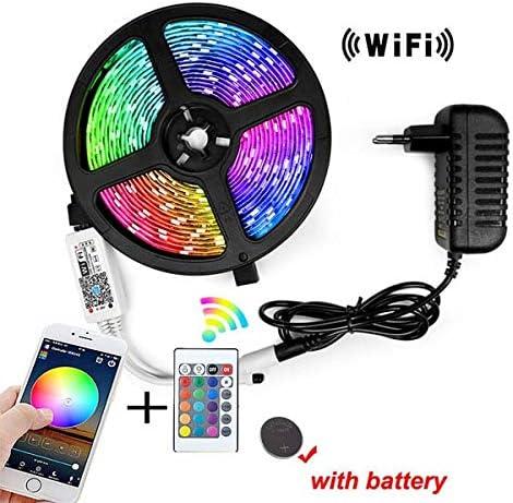 SUNXK Tira de luz LED DC12V 2835 RGB Cinta de diodo Cinta de neón tira fita