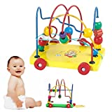 KateDy 1 pc Wooden Toy Colorful Beaded Trailer Baby Kids Push Pull Toys Educational Toy Learning Walker For Toddler