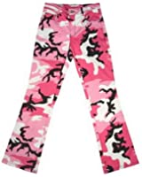 Womens Camouflage Pants Pink Camo Stretch Pants