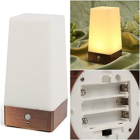 1Pc Superlative Popular Square Shape LED Nightlight Lightweight Wireless Super Bright Warm White (Houston Crib)