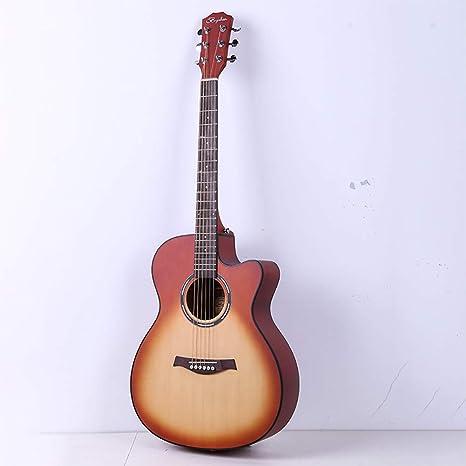 BLKykll Guitarra Acústica,40 Pulgadas De Notch De La Guitarra ...