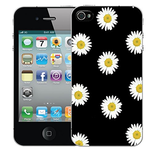 Mobile Case Mate iPhone 5s Silicone Coque couverture case cover Pare-chocs + STYLET - Daisy pattern (SILICON)