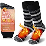 Thermal Socks Warm, JPGO Winter Fur Lined Boot Thick Insulated Heated Socks For Cold Weather
