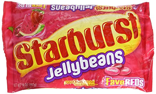 Starburst Fave Reds Jelly Beans, 14-ounce Bag ()
