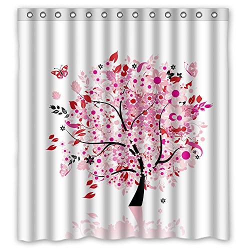 Price comparison product image MaSoyy Width X Height / 66 X 72 Inches / W H 168 By 180 Cm Polyester Tree Bathroom Curtains Fabric Is Fit For Custom Bf Lover Kids Girl Artwork. Water Repellent