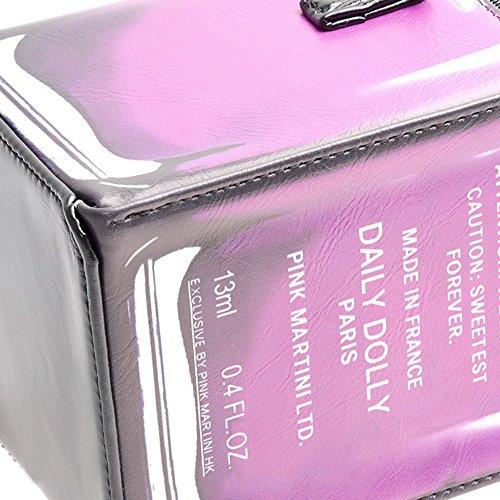 Purse Bag Women Glamour Cr36 Purple Crossbody Rose Glam Bag Polish Purple Nail Unique SUI LUI xqgXY7wff