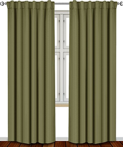 From Usa Blackout Room Darkening Curtains Window Panel Drapes Grey 2 Panel Set 52x84 Inch By