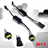 Autolizer LED Headlight Kit Error Free CanBUS Adapters - H11 (H8, H9, H11B) - Plug & Play - Computer Warning Canceller Resistor Decoders and Fix Anti-Flicker