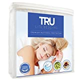 Waterproof Mattress Protector - TRU Lite Bedding Waterproof Mattress Protector - Hypoallergenic Mattress Cover - Premium Cotton Terry Bed Protector - Protects from Dust Mites, Allergens, Germs, Stains, Odors - Queen Size
