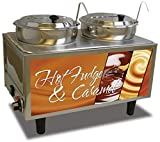 Benchmark USA 51072H Hot Fudge/Caramel Warmer, 17'' H, 13'' W, 21'' L, Stainless Steel