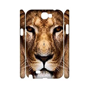 case Of Lion Customized Hard Case For Samsung Galaxy Note 2 N7100
