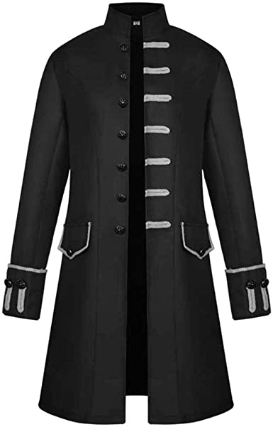 Gothic Vintage Women Steampunk Tailcoat Jacket Long Medieval Costume Victorian