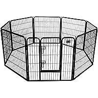 BestPet 32 inch 8 Panel Dog Exercise Pen Cat Fence (Black)