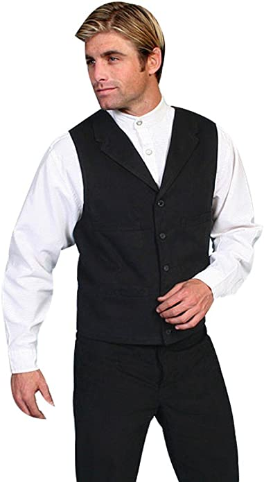 1920s Style Mens Vests Brushed Cotton Vest  AT vintagedancer.com