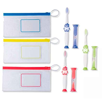 THE COLLECTION Set Cepillo DE Dientes Infantil con Neceser Y Reloj DE Arena. Lote DE