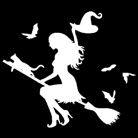Yiwencult - Ofertas de Limpieza. Adhesivo para Coche Witch On Flying Broom, Parachoques,