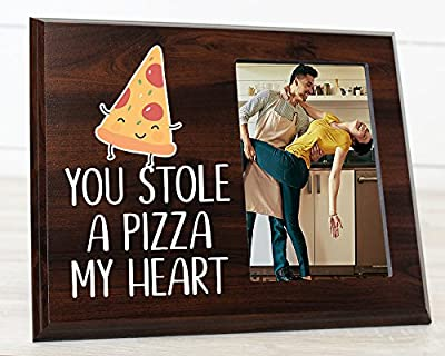 You stole a pizza my heart Funny Picture frame for Boyfriend or Girlfriend