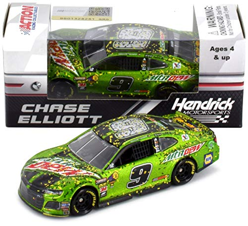 Lionel Racing Chase Elliott 2018 Kansas Win MTN Dew Raced Version NASCAR Diecast Car 1:64 Scale