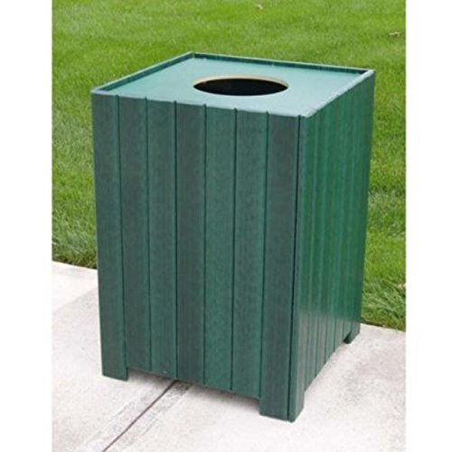 Recycled Plastic Slat (Jayhawk Plastics Standard Square 20 Gallon Receptacle Made With Twenty-Eight 1